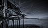 TRABOCCO V2 (fotolanko) Tags: mare sea pesca fish trabocco pontile out nikon sigma bw bianco nero old legno wood italia italy soiaggia beach lunga esposizione long time creativa nikkor 7200 grand grandangolo