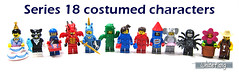 Series 18 costumed characters (WhiteFang (Eurobricks)) Tags: lego collectable minifigures series city town space castle medieval ancient god myth minifig distribution ninja history cmfs sports hobby medical animal pet occupation costume pirates maiden batman licensed dance disco service food hospital child children knights battle farm hero paris sparta historic brick kingdom party birthday fantasy dragon fabuland circus