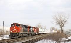 CN 377 (Michael Berry Railfan) Tags: cn canadiannational cn377 train freighttrain dorval montreal quebec montrealsub sd70m2 emd gmd ge generalelectric gevo es44dc cn8814 cn2326
