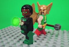 Green Lantern and Hawkgirl (-Metarix-) Tags: lego super hero minifig dc comic justice league cartoon unlilmited green lantern hawkgirl john stewart