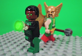 Green Lantern and Hawkgirl