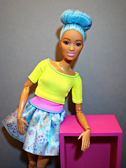 Happy Colours (Deejay Bafaroy) Tags: barbie mattel doll puppe dreamtopia fairydoll feepuppe madetomove mtm body blue blau yellow gelb pink rosa portrait porträt
