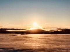 Sunrise over foggy Bow River valley (Sean Maynard) Tags: cold snow foggy canada alberta calgary valley bowriver winter fog sunrise
