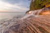 Natural History (Aaron Springer) Tags: michigan upperpeninsulaofmichigan lakesuperior thegreatlakes picturedrocksnationallakeshore elliotfalls waterfall sandstone water clouds outdoor nature landscape