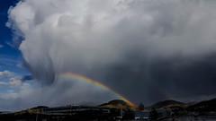 Heppenheim / Germany (Udo S) Tags: clouds wolken regen rain sturm storm gewitter thunderstorm regenboen rainbow colors farben deutschland bergstrase heppenheim himmel sky