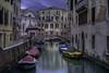 Venetian paths 79( Rio del Mondo Novo Castello) (Maurizio Fecchio) Tags: bridge travel longexposure venice venezia lights colors cold architecture city cityscape italia italy