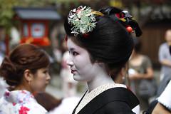 Fancy comb (stevech) Tags: maiko geisha kushi matsuri comb festival kyoto japan kansai september kimono makeup