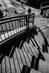 Stairway to George St. (rick miller foto) Tags: shadowhunter shadows x70 fujifilm fuji mono monochrome streetscenes streetphotography bw blackandwhite newfoundlandandlacour stjohns saintjohn newfoundland
