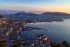 Bergen, Norway (eirikj) Tags: winter bergen norway sunset mountains snow canon eos m 22m f2