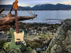 On the Rocks (Pennan_Brae) Tags: guitarphotography guitarphoto musicalinstrument instrument musicphotography vintageguitars vintageguitar vancouverbc vancity vancouver vintage sixstring music electricguitars guitar electricguitar fenderguitars fenderguitar fenderbronco fender