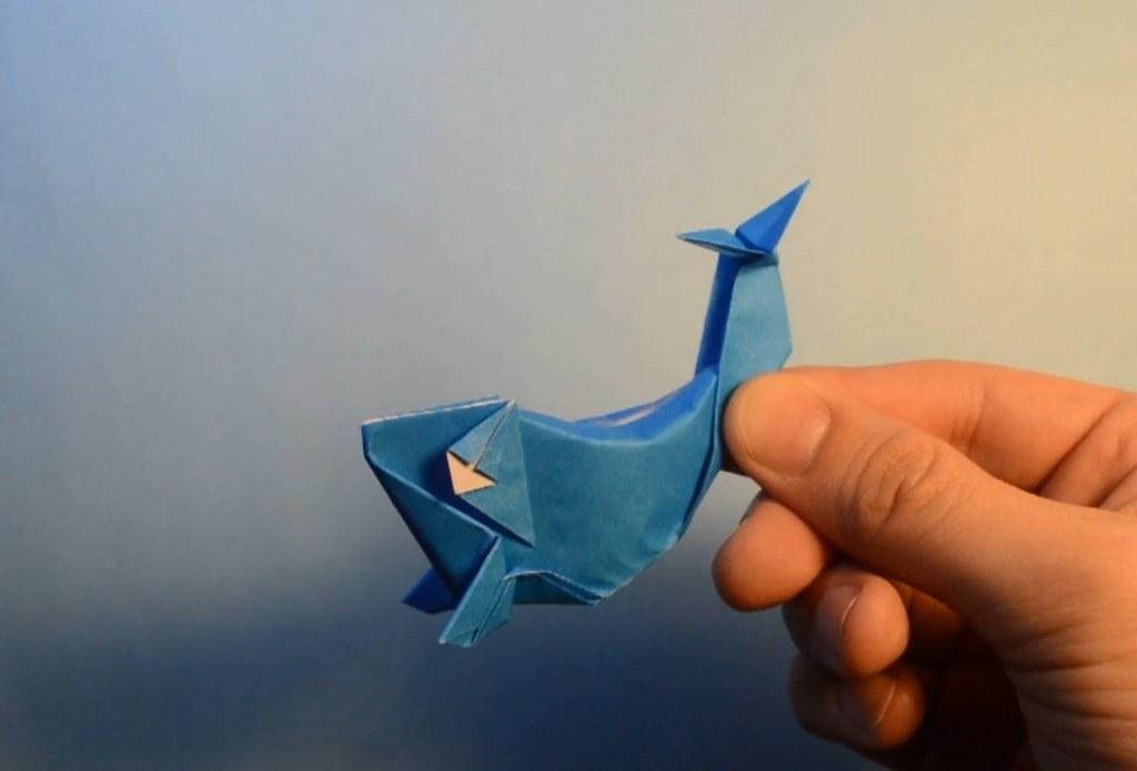 Blue Whale Madiyaramerkeshev Tags Origami Bluewhale Animal