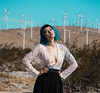 Analisse (RangerTori) Tags: fashion photoshoot bluehair palmsprings coachellavalley windmills warmtones