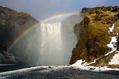 Skógafoss (Iván Lozano photography) Tags: iceland islandia travel black sand beach dc3 skógafoss canon ivan lozano waterfall rainbow arcoiris light