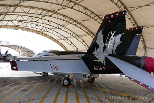"Boeing F/A-18E Super of VX-9 ""Vampires"" from NAWS China Lake"