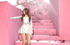 Cherry Blossom (Aleriah.) Tags: foxcity justbecause cherry blossoms breezy on9 collabor88 nani the arcade spring summer flowers flower blush pink stair prop backdrop