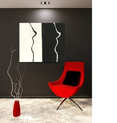 Red armchair with pillow and white blank on the black wall in minimalism interior. (riedelelke) Tags: redcarpetseatblackvasearmchairchairwoodenparquetwallha advertising art background banner blank clean clear collection construction creativity decoration design drawing empty exhibit exhibition exposition frame furniture gallery hall horizontal illustration indoor inside installation interior isolated lamp light minimalism museum painting perspective photograph picture place portfolio presentation projector red room show space square standing studio wall whitemoderntechartpopfurrysimplefabric redcarpetseatblackvasearmchairchairwoodenparquetwallhallyellowbanner