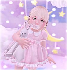 #backdropcityphotocontest4 - Classy Touch - Lexane Resident (Lexane Addams) Tags: pink backdropcityphotocontest4 love photo scene toddleedoo babygirl bento bunny moon stars binky photoiloveyou expression