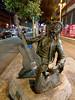 hendrix statue (n.a.) Tags: shoe leaflet flyer litter jimi hendrix lefthanded guitar guitarist seattle wa us night street statue art public