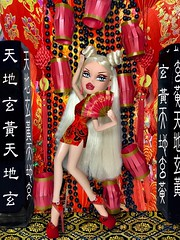 """Modelling Madness Cycle 3/ Photoshoot no.11 / """"Lunar New Year"""" / Team Sofia -Dominique Fleur (TwiinsWhoLoveDolls) Tags: model bratz oriental makeup liner graphic snatch fashion doll 2018 2010 fco snatched fleur dominique bntm madness modeling chinese asian"""