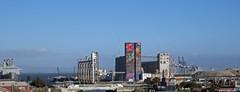 not quite the Painted Ladies (Riex) Tags: harbor port concrete industrial industriel tower tour decorated decoration décorée colors couleurs bluesky cielbleu sanfrancisco california californie g9x