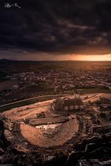 Medellín, Badajoz (jesbert) Tags: medellin badajoz extremadura spain españa atardecer sunset sony a7rii cielo sky nubes clouds 16 35mm carl zeiss