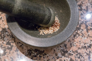 Mortar and pestle made of stone