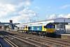 0G66 66789 + 66741 Tonbridge Yard - Hoo Jn (Adam McMillan Railway Photography) Tags: 0g66 66741 66789 paddockwood gm class66 br largelogo