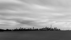 Toronto Skyline (BishRocks) Tags: cntower 13stop firecrest ndfilter formatthitech nikon nikond750 nikkor toronto skyline 2470mm 2470mmf28 blackwhite monochrome longexposure lakeshore landscape lake lakeontario