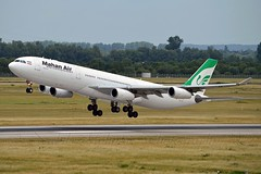 Mahan Air EP-MMC Airbus A340-313 cn/282 @ EDDL / DUS 16-06-2017 (Nabil Molinari Photography) Tags: mahan air epmmc airbus a340313 cn282 eddl dus 16062017