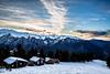 Guzet, Ariège (Nicolas Lbts) Tags: guzet ariège france midi pyrenées montagne mountain neige snow chalets landscape paysage sunset couchédesoleil ciel sky ski canon 5d mark3 tamron 2470 lightroom