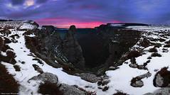 Pico del Fraile (Hector Prada) Tags: picodelfraile amanecer invierno panorámica pano nieve cielo nubes montaña acantilado orduña sunrise winter clouds wide snow cliffs mountain paísvasco basquecountry