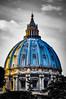 Dôme de la Basilique St-Pierre n&b (herbertnaccache) Tags: triptyque rome coliseum basilique stpierre fontaine de trévi