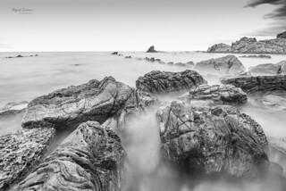 Paisajes de la Bahía de Algeciras en blanco y negro.