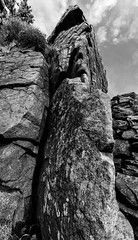 1920p 72dpi-6263 (R W Gibbens Photo) Tags: forestofbowland gritstone millstonegrit rock crag littlecrag lancashire england uk monochrome blackandwhite blackwhite