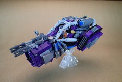 Brigand (Greeble_Scum) Tags: lego future city cyber punk hover vehicle speeder greeble moc build creation mini figure purple