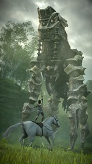 CLOSING THE GAP (Cristiano Bonora) Tags: shadowofthecolossus sotc remake wallpapers bluepointgames wanderer agro colossus colossi photomode ps4 sonyjapanstudios bestscreenshot