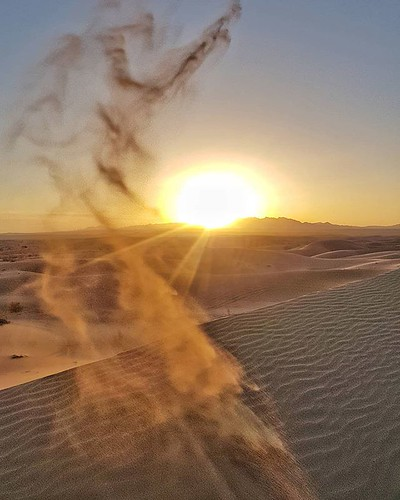 Stunning sunrise in Farahzaad dunes in #Iran 😍 #photography #travel