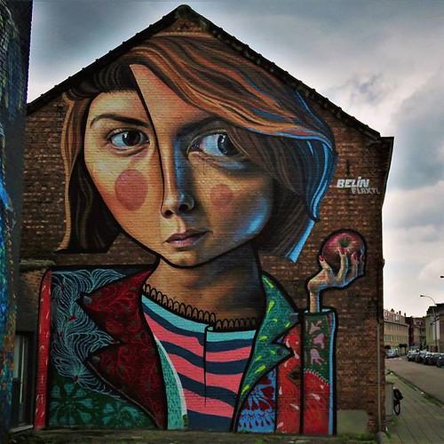 Best way to end #womensday = #art by #Belin & #flaxtl. . #hasselt #belgium #streetart #graffiti #urbanart #graffitiart #urbanart_daily #graffitiart_daily #streetarteverywhere #streetartbelgium #streetart_daily #wallart #mural #ilovestreetart #igersstreeta