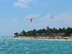 Playa del Carmen (Colorado Sands) Tags: quintanaroo playa beach playas water wimming playadelcarmen rivieramaya mexico mexicanbeaches yucatánpeninsula caribbean solidaridad people sea parasails