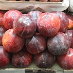 Plums set on the market Danilovsky Market, Moscow, Russia thumbnail