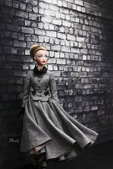 The pull (pure_embers) Tags: pure embers doll dolls uk pureembers photography laura england love paris gene marshall embersparis dress portrait 50s style classic elegant tweed skirt suit fashion melodom ashton drake galleries collector dark wall