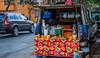 2018 - Mexico City - Condesa - OJ Truck (Ted's photos - For Me & You) Tags: 2018 cdmx cityofmexico cropped mexico mexicocity nikon nikond750 nikonfx tedmcgrath tedsphotos tedsphotosmexico vignetting callecuernavaca oj orangejuice oranges red redrule vehicles jugs buckets bucket wheels