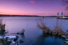 Sonnenuntergang am Wannsee (MGBAR) Tags: berlin night day 2018 nikon d5300 ndfilter polfilter sky colour sundown lake wannsee