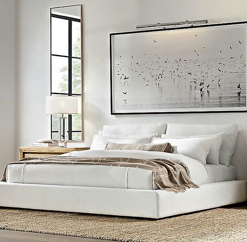 Furniture  - Living Room : Cloud platform slipcovered bed | RH Restoration Hardware