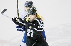 Blue-line blonde (stephencharlesjames) Tags: ice hockey womens sport college sports winter action middlebury bowdoin vermont ncaa