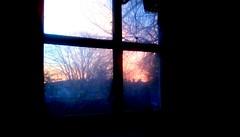 Sunrise through kitchen window - HWW 365/125 (Maenette1) Tags: sunrise kitchen window home menominee uppermichigan happywindowswednesday flicker365 michiganfavorites project365