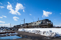 NS 14G @ Langhorne, PA (Darryl Rule's Photography) Tags: 14g 2018 24k bnsf bs03 buckscounty cpjohn clouds cloudy diesel diesels emd freight freightcar freighttrain freighttrains ge gp382 intermodal langhorne levittown local march mixedfreight morrisville ns norfolksouthern oxfordvalley pa pennsylvania railroad railroads sun sunny train trains westlang winter