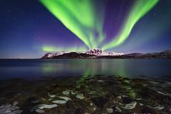 Kvalnes aurora (Lukasz Lukomski) Tags: northernlights aurora lofoten longexposure lukaszlukomski norway norge nikond7200 sigma1020 norwegia sea morze mountain góra landscape krajobraz night noc reflection odbicie