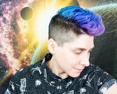 03.10.18 (sciencensorcery) Tags: selfportrait bluehair purplehair