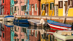 the world's most colourful island (hjuengst) Tags: burano venedig venezia venice colourful colorful bunt reflection reflektionen spiegelung italy